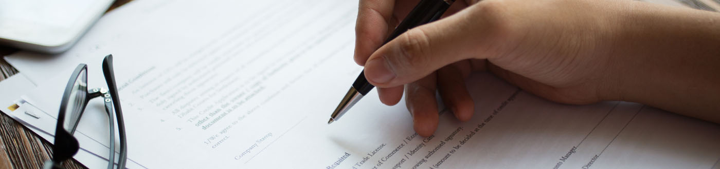 pen signing documents